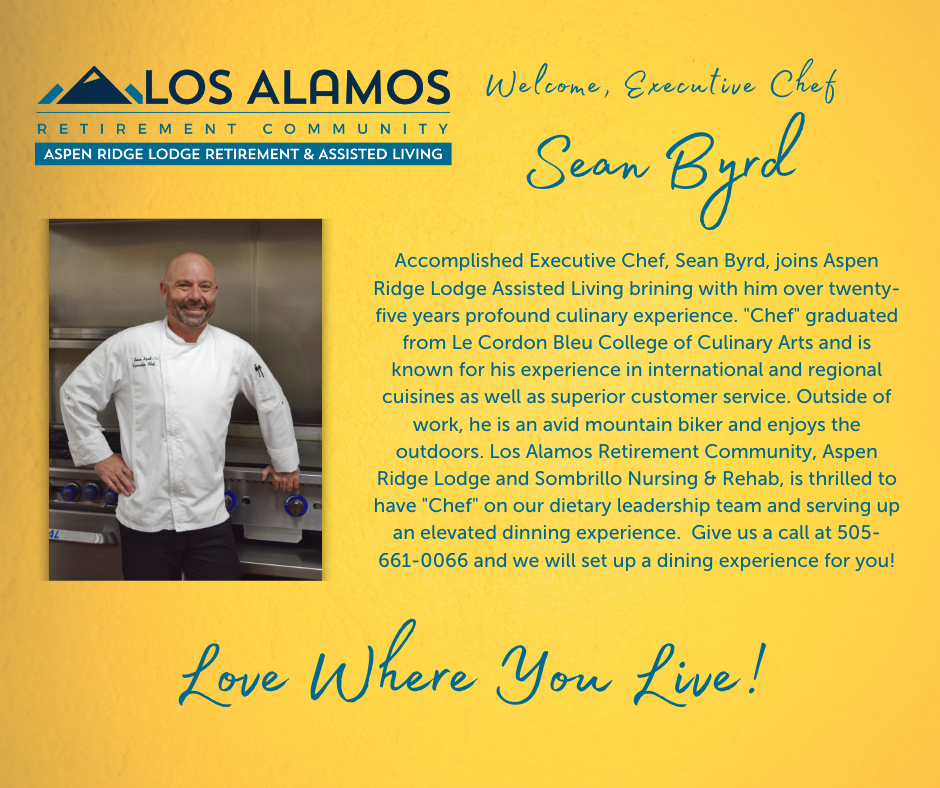 We Welcome Our New Executive Chef, Sean Byrd